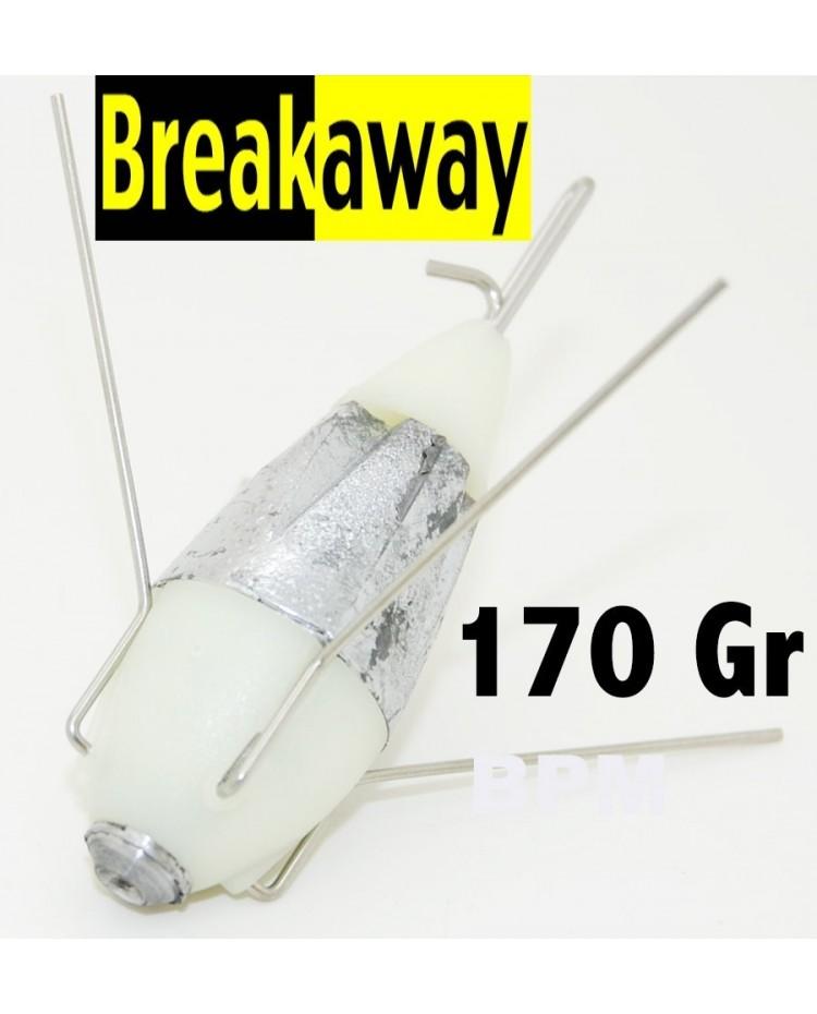 ( 170 GR ) PLOMB PHOSPHO BREAKAWAY IMPACT AVEC GRAPPINS DEBRAYABLE