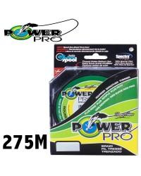 TRESSE POWER PRO VERTE GREEN LINE. ( BOBINE DE 275M )