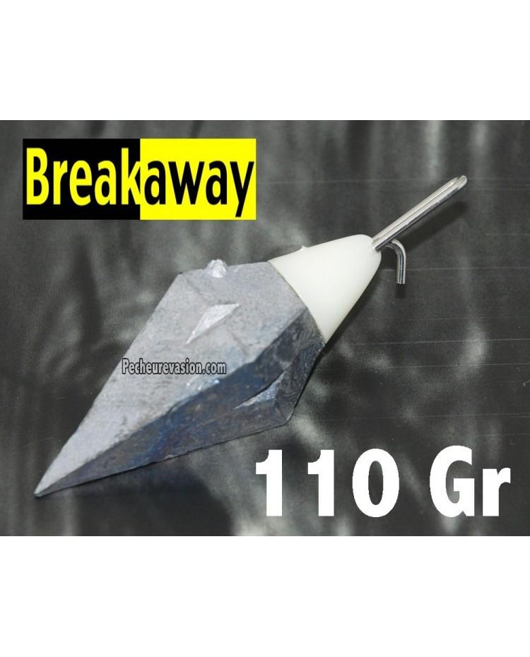 (110 Gr) Plomb Surf Portugais avec Impact Shield Breakaway
