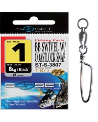 EMERILLON AGRAFE MER SUNSET BB SWIVEL W / COASTLOCK SNAP ST-S-3807