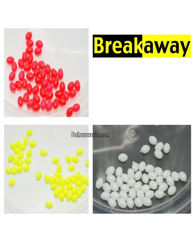 PERLES DURES OVALES BREAKAWAY ( 50 PC ) 4,5 X 3 MM.