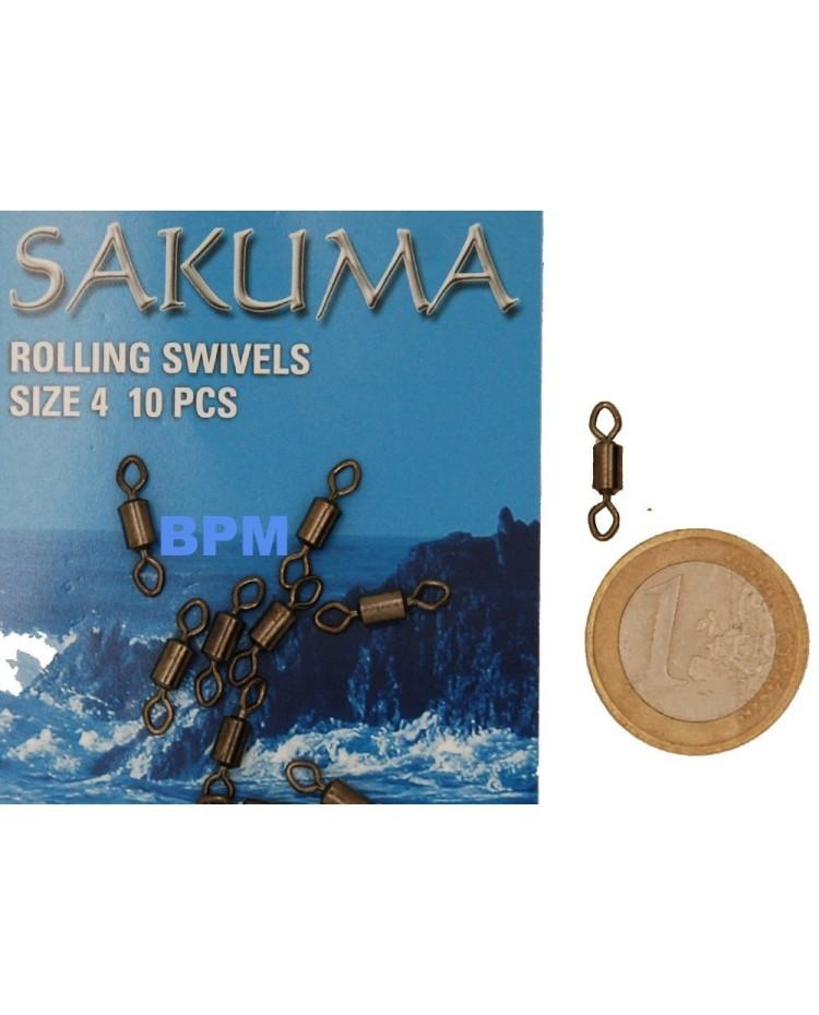 EMERILLON ROLLING SWIVELS SAKUMA