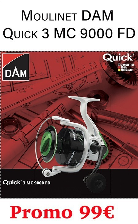 Moulinet DAM Quick 3 MC 9000 FD